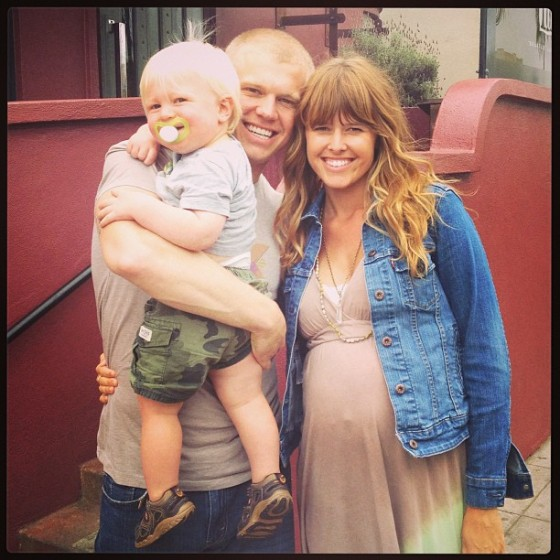 My handsome husband, glowing sister-in-law, and my beautiful son.