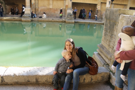 Milo and me at the Roman Baths.