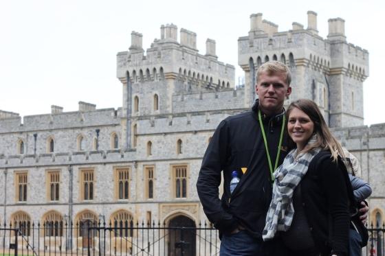 Windsor Castle (Milo is on my back)