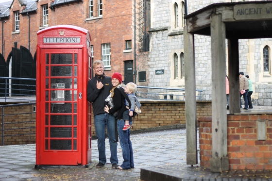 A fun telephone booth in Windsor.