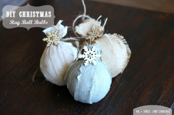 DIY Rag Ball Bulbs