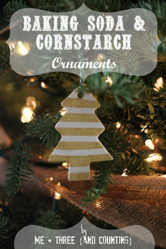 Baking soda and cornstarch ornaments