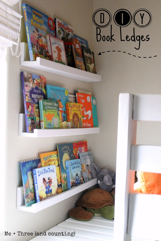 DIY Book Ledges