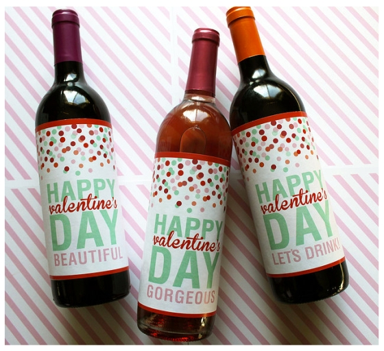 Valentine's Day Wine Labels