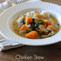 Chicken Stew with Sweet Potatoes & Kale