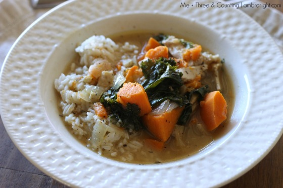chicken stew sweet potato kale